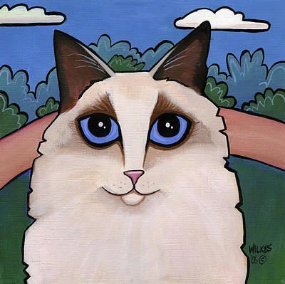Ragdoll Cat Print by Leanne Wilkes