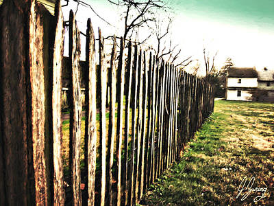 Ragged Country Fence Print by Joshua Zaring