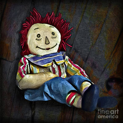 Raggedy Painting - Raggedy Andy Doll by Walt Foegelle