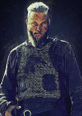 Lagertha Digital Art - Ragnar Lothbrok by Semih Yurdabak