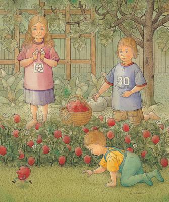 Strawberry Drawing - Raid by Kestutis Kasparavicius