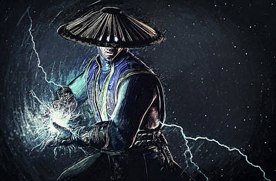 Portrait Digital Art - Raiden - Mortal Kombat by Taylan Soyturk