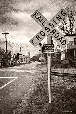 Rail Road Crossing Print by Brian Wallace