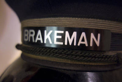 Brakeman Photograph - Railroad Brakeman by Daniel Hagerman