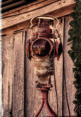 Crow Photograph - Railroad Light Vintage Style by Lesa Fine