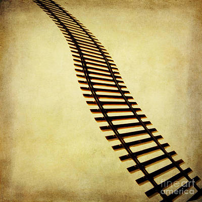 Cut Out Photograph - Railway by Bernard Jaubert