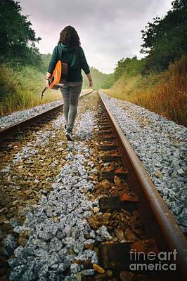 Destiny Photograph - Railway Drifter by Carlos Caetano