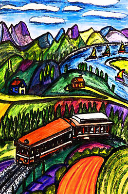 Railway Express Print by Monica Engeler
