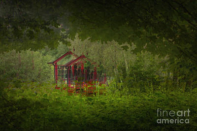Icm Photograph - Railway Hut by Richard Thomas
