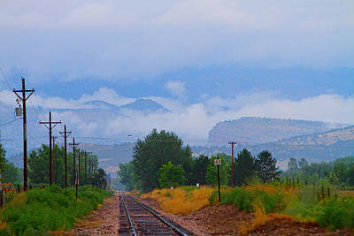Railway Into The Clouds Print by James BO  Insogna