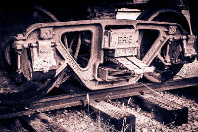 Old Caboose Digital Art - Railway by Revel Photo