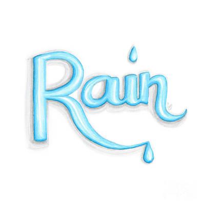 Drip Drawing - Rain by Cindy Garber Iverson