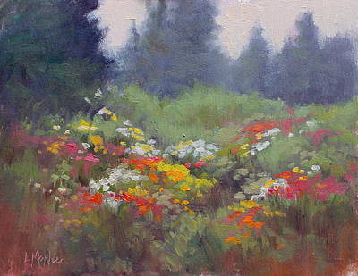 Painting - Rain Flowers by Lori  McNee