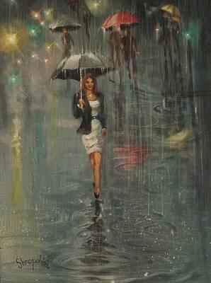 Rain In The City Print by Tom Shropshire