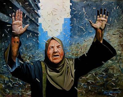 Anti-war Painting - Rain Of Terror by Doug Strickland