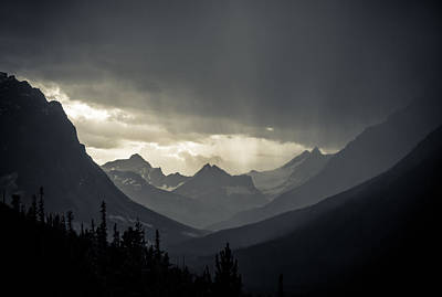 Rain Over The Tonquin Valley Print by Cale Best