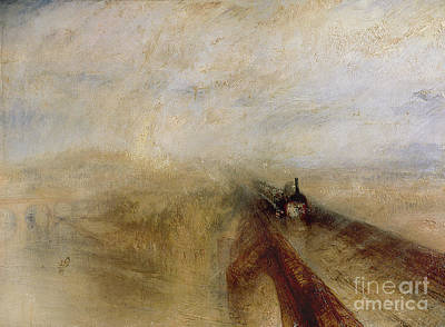 Railway Painting - Rain Steam And Speed by Joseph Mallord William Turner