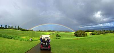 Rain Digital Art - Rainbow At Kapalua by Stacia Blase