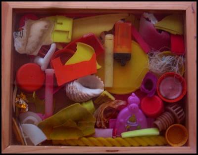 Sculpture - Rainbow Beach Box I by Adam Kissel