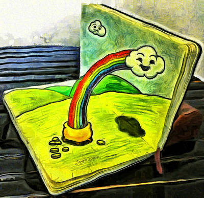 Chairs Digital Art - Rainbow Book - Da by Leonardo Digenio
