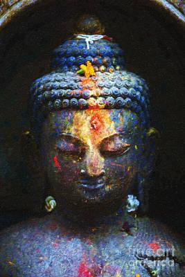 Rainbow Buddha Print by Tim Gainey