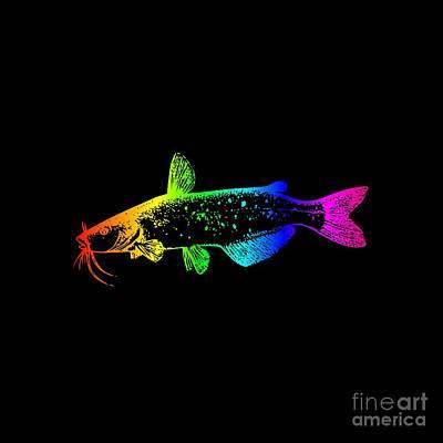 Catfish Mixed Media - Rainbow Catfish #2 by Frederick Holiday