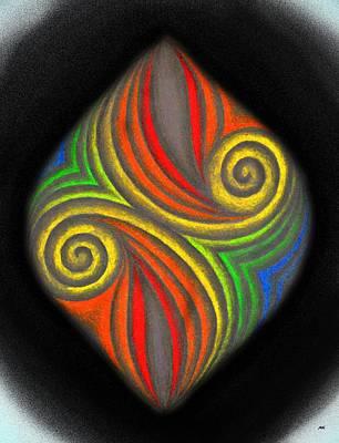Creativity Drawing - Rainbow Colors by Marketa Kostrova