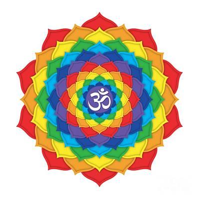Rainbow - Crown Chakra  Print by David Weingaertner