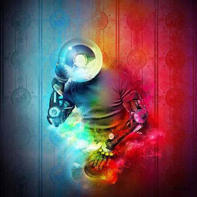Robert Palmer Mixed Media - Rainbow Dj by Robert Palmer