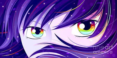 Digital Art - Rainbow Eyes by Sandra Hoefer