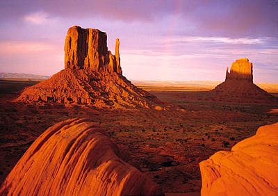 Rainbow In Monument Valley Photograph By Utah Images
