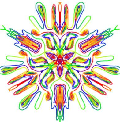 Rainbow Kalidie Print by Blue Doves