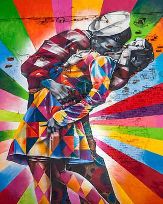 Rainbow Kisses Print by Az Jackson