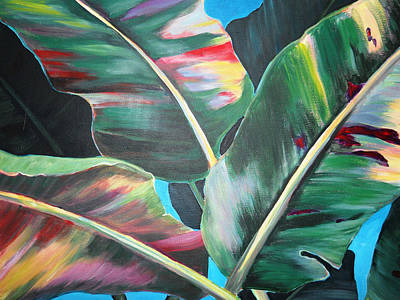 Colorfull Painting - Rainbow Leaves by Nyiece Pregeant Owens