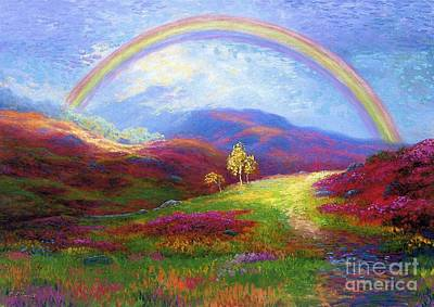 Rainbow Meadows Print by Jane Small