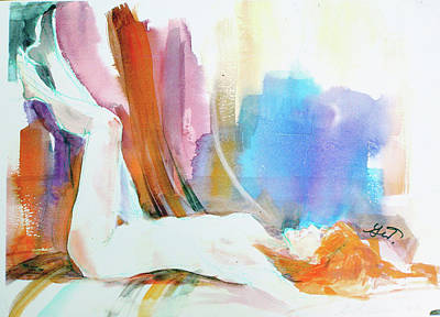 Rainbow Nude Original by Gertrude Palmer