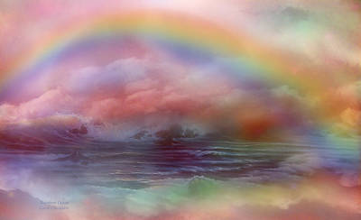 Mood Art Mixed Media - Rainbow Ocean by Carol Cavalaris