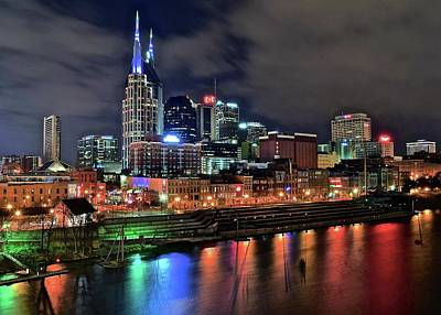 Nashville Skyline Photograph - Rainbow On The River by Frozen in Time Fine Art Photography