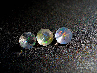 Cabochon Photograph - Rainbow Opal by Neon Flash