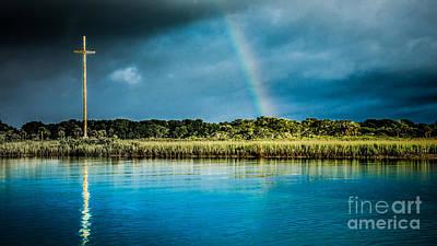Rainbow Over Nombre De Dios Print by Jim DeLillo