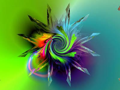 Algorithmic Digital Art - Rainbow Spiral by Claude McCoy