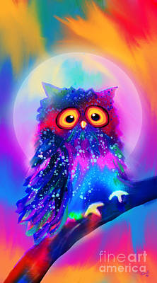 Rainbow Spotted Owl Print by Nick Gustafson