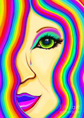 Painting - Rainbow Tear Mourning by Nick Gustafson
