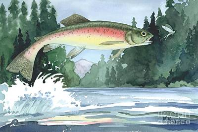 Rainbow Trout Print by Paul Brent