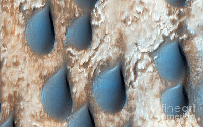 Raindrops Of Sand In Copernicus Crater. Mars Print by Celestial Images