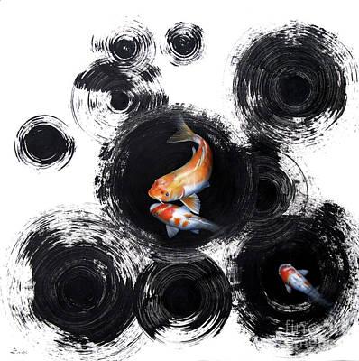 Sumi Painting - Raindrops Reveal by Sandi Baker