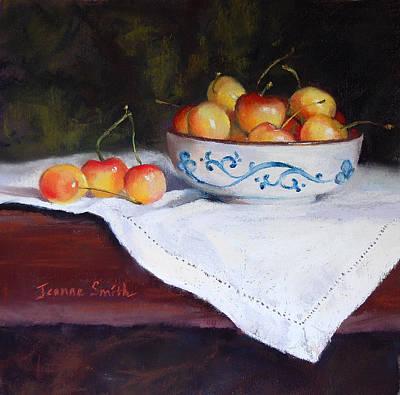 Rainier Cherries Print by Jeanne Rosier Smith