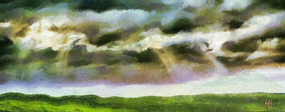 Nature Painting - Rainy Afternoon by Russ Harris