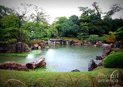 Rainy Day Photograph - Rainy Day In Kyoto Palace Garden by Carol Groenen