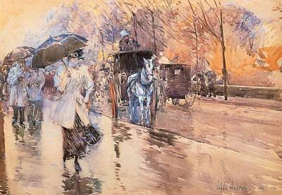 Wet On Wet Painting - Rainy Day On Fifth Avenue by Mountain Dreams